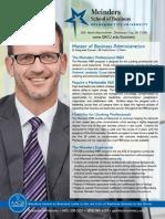Professional MBA One Sheet