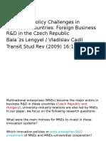 internacionalización de I+D Países Europa del Este
