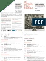 Programme - Les Acteurs de La Rocaille
