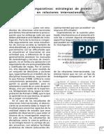 Los Estudios Comparativos Estrategias de Investigación Empírica en Relaciones Internacionales