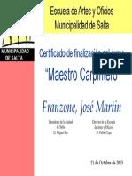 Certificado Franzone