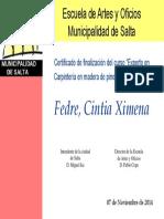 Cintia Fe Certificado