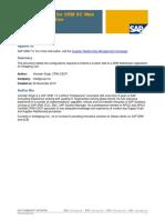 Customer Field for SRM SC Web Dynpro Application
