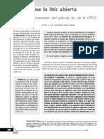 Acotando La Litis Abierta. Indebida Interpretación Del Artículo 1 de La LFPCA