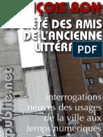 Francoise bon Societe Litterature
