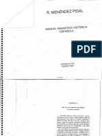 Manual de Gramatica Historica Espanola Menendez Pidal
