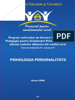 Psihologia Personalitatii, Adrian Opre