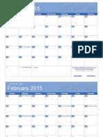 2015 Calendar Bold