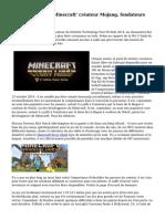 Microsoft ach?te 'Minecraft' cr?ateur Mojang, fondateurs quittent le Studio