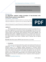 An approximate analytical solution description of time-fractional order Fokker-Planck equation by using FRDTM