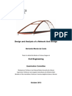 Design and Analysis of a Network Arch Bridge