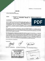 Postergación de acto de presentación, recepción y calificación de propuestas Licitación N°03-2015-CE-AFSM