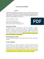 Estado de Situación Financiera y Cuentas de Valuacion
