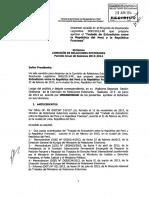 Tratado Perú-Francia rechazado por el Presidente