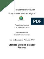 Reporte de La Lectura Los Gajes Del Oficio