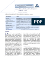 The Diagnostic Accuracy of External Pelvimetry to Predict Dystocia In