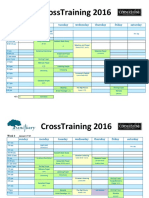 CrossTraining 2015 Schedule