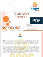 Cape Oss Supplies - Company Profile Sep 2015