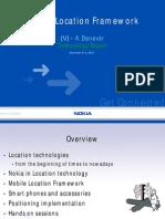 Forum Nokia Mobile Location Framework Presentation ADenever December 2004
