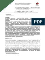 Inclusión de Residuos Industriales en La Producción de Materiales Cerámicos