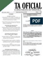 Gaceta Oficial Número 40.820 de la República de Venezuela, 04 de enero de 2016