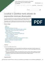 Localizar e Substituir Texto Através de Expressões Normais (Avançado)