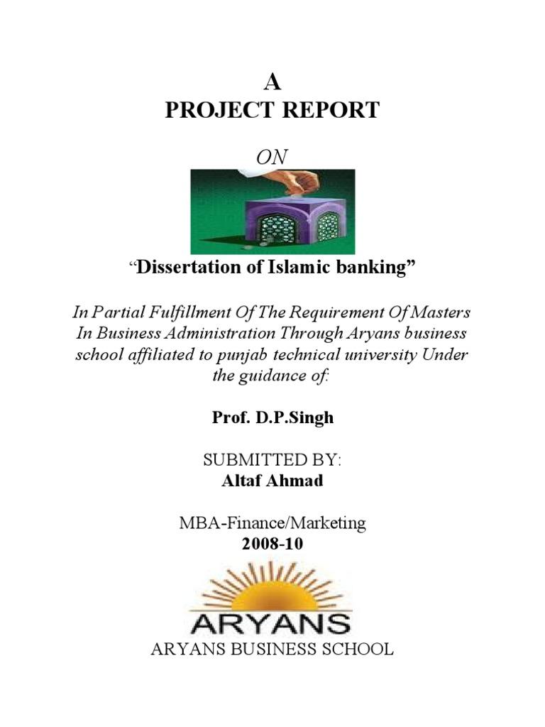 Islamic banking dissertation sample dissertation methodology