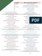 Canciones Ingles Español