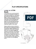 Booth Display Specifications and Photos of 10'x10' Pipe Drape