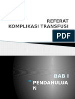 Ppt Referat Komplikasi Transfusi Darah