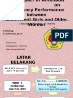 The Impact of Antenatal Care on Pregnancy Performance