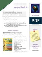 applied behaviour summary