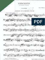 Tomasi Concerto Pour Trombone Et Orchestre Trombone