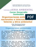 Organizaciones ambientales nacionales e internacionales