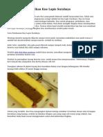Langkah Menghasilkan Kue Lapis Surabaya