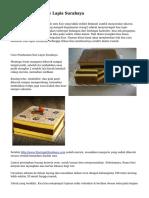 Cara Membuat Kue Lapis Surabaya