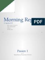 Morning Report 13 Agusuts 2015