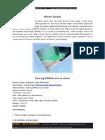 Casting PMMA Mirror Sheet
