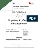 Programa Proteção Civil Organização Gestão Planeamento