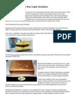 Cara Menghasilkan Kue Lapis Surabaya