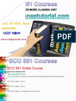 ECO 561 Academic Success /snaptutorial