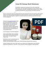 Cara Penggunaan Cream HN Semoga Hasil Maksimum