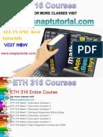 ETH 316 Academic Success /snaptutorial