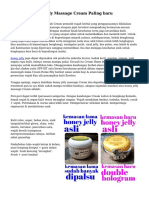 Manfaat Honey Jelly Massage Cream Paling baru