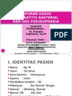 LAPKAS Keratitis Bakterial Dan Pseudophakia