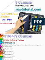 FIN 419 Academic Success /snaptutorial