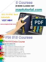 FIN 515 Academic Success /snaptutorial