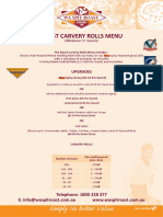 ROAST CARVERY ROLLS MENU