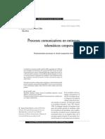 Procesos comunicativos en entornos cooperativos