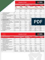 Tariff Sheet Sep 2015